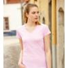 Színes póló, női napsárga V nyakú