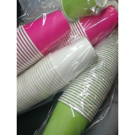 papír pohár magenta avokado zöld sötétkék színben 2 dl