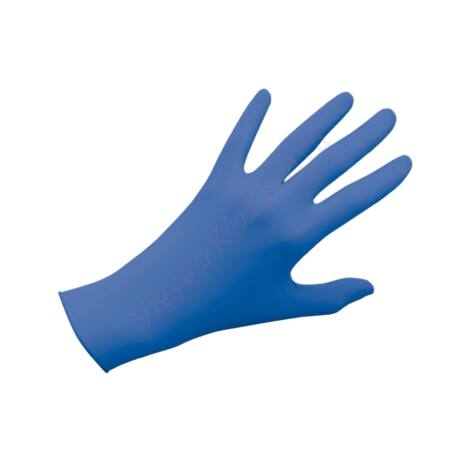 100 db-os kék nitril védőkesztyű tasakos kiszerelésben