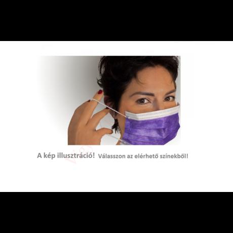 lila orvosi szájmaszk