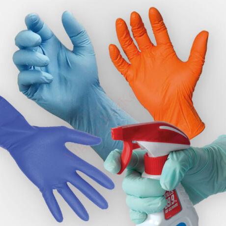 100 db színes S méretű latex védőkesztyű