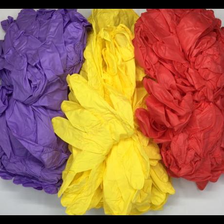 100 db S méretű színes nitril védőkesztyű