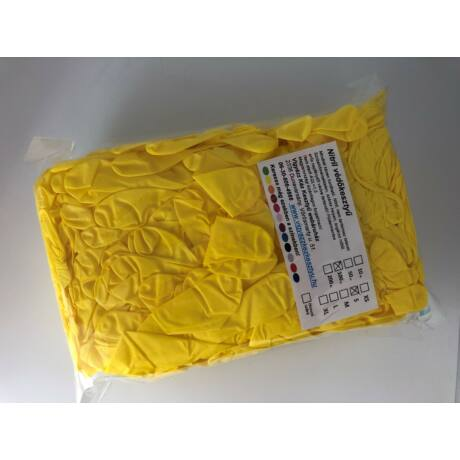 100 db-os Citromsárga nitril védőkesztyű tasakos kiszerelésben