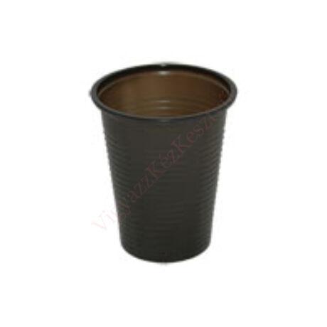 Műanyag pohár 2 dl, eldobható, fekete, 50db