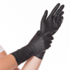 100 db-os hosszú szárú nitril védőkesztyű Fekete L méret