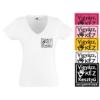 Színes póló, női fehér V nyakú, kerek nyakú 2XL