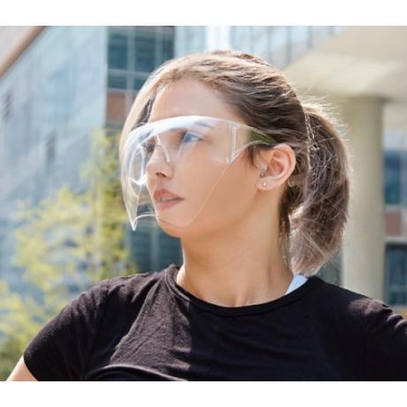 arcvédő pajzs áttetsző homlokpánttal rögzíthető