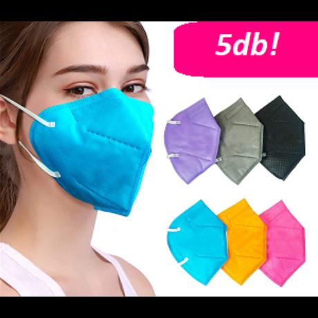 YUNYIFU szájmaszk-FFP2 védelem 5db  Több színben