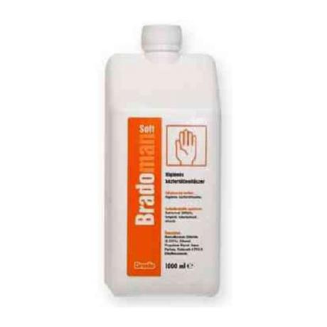 bradoman soft higiénés kézfertőtlenítő utántöltő 1000 ml