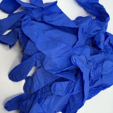 200 db kobalt kék nitril védőkesztyű