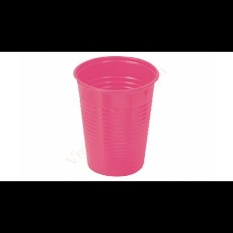 műanyag pohár magenta 2 dl