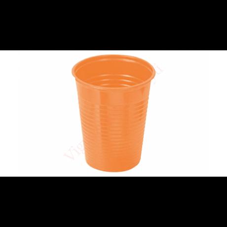 műanyag pohár narancs 2 dl