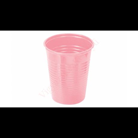 Műanyag pohár 2 dl, eldobható, rózsaszín - 50 db