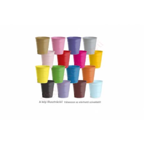 műanyag pohár több színben 2 dl