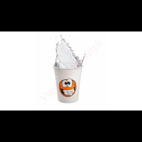műanyag pohár smiley