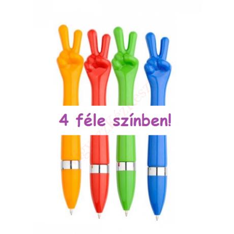 színes toll győzelem jelét formázza